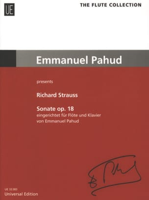 Richard Strauss - Sonate op.18 – Flöte Klavier - Partition - di-arezzo.fr