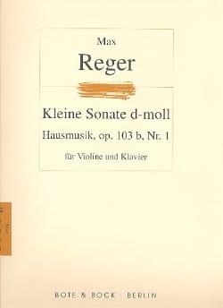 Hausmusik Op. 103b N° 1 - Max Reger - Partition - laflutedepan.com