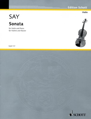 Fazil Say - Sonata – Violin piano - Partition - di-arezzo.fr