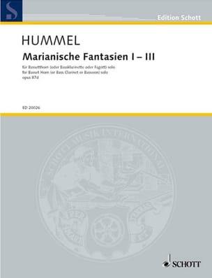 Bertold Hummel - Marianische Fantasien 1-3 op. 87d – Bassetthorn solo - Partition - di-arezzo.fr