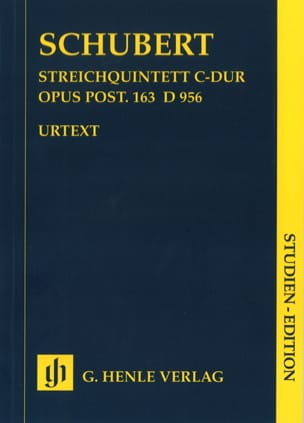 SCHUBERT - Streichquintett C-Dur D. 956 op. post. 163 - Partitur - Sheet Music - di-arezzo.co.uk