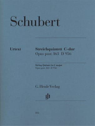 SCHUBERT - String Quintet in C major op. post. 163 D 956 - Sheet Music - di-arezzo.co.uk