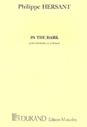 Philippe Hersant - In the Dark - Sheet Music - di-arezzo.co.uk