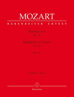 Sinfonie F-Dur Kv 112 - MOZART - Partition - laflutedepan.com