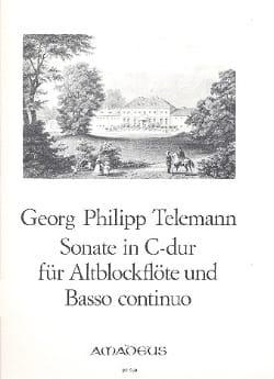 TELEMANN - Sonate C-Dur - Altblockflöte Und Bc - Partition - di-arezzo.fr