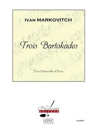 Ivan Markovitch - 3 Bartokades - Partitura - di-arezzo.es