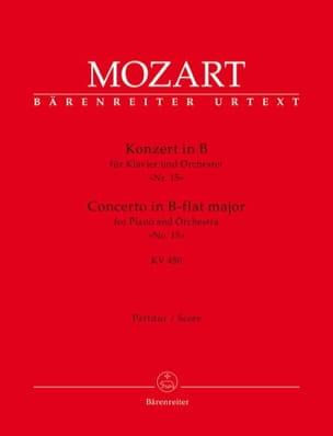 Concerto pour piano en Sib Majeur, KV 450 - Conducteur - laflutedepan.com