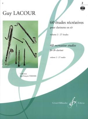 Guy Lacour - 60 Etudes récréatives - Volume 2 - Partition - di-arezzo.fr
