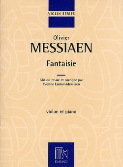 Fantaisie MESSIAEN Partition Violon - laflutedepan