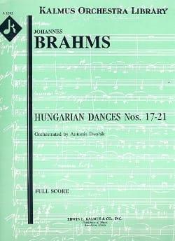 Hungarian Dances Nos 17-21 - BRAHMS - Partition - laflutedepan.com