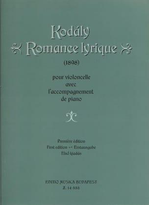 Zoltan Kodaly - Lyrische Romantik - Noten - di-arezzo.de