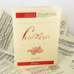 BOISMORTIER - Sonates à 2 flûtes traversières sans basse op. 1 - Partition - di-arezzo.fr