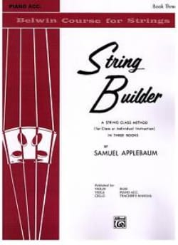 Samuel Applebaum - String Builder Accomp Piano Vol 3 - Sheet Music - di-arezzo.com