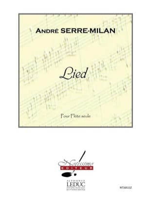 André Serre-Milan - Lied - Partition - di-arezzo.fr