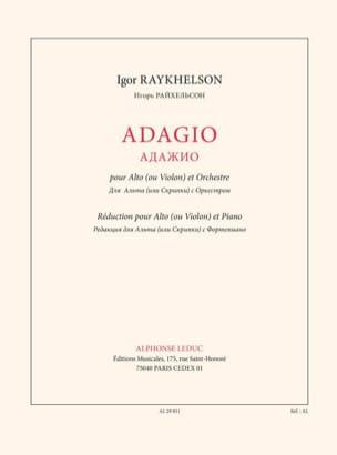 Adagio - Raykhelson Igor - Partition - Alto - laflutedepan.com