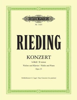 Concerto en si mineur Op. 35 Oskar Rieding Partition laflutedepan