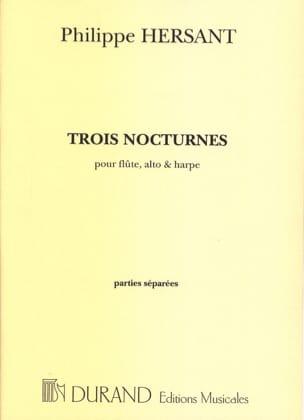 Philippe Hersant - Trois nocturnes –Parties séparées - Partition - di-arezzo.fr