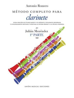 A. Romero - Metodo completo para clarinete – 1A Parte - Partition - di-arezzo.fr