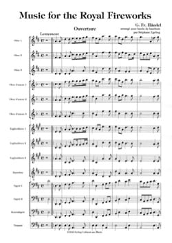 Georg Friedrich Haendel - Music for the Royal Fireworks – Score + Parts - Partition - di-arezzo.fr