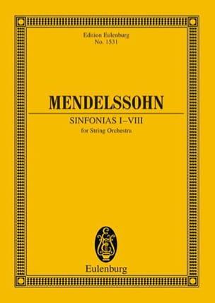 MENDELSSOHN - Sinfonias N° 1-8 - Partition - di-arezzo.fr