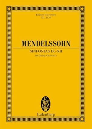 Sinfonias N° 9 - 12 - MENDELSSOHN - Partition - laflutedepan.com