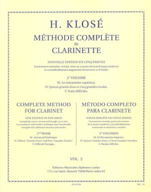 Hyacinthe Klosé - Complete Method of Clarinet Volume 2 - Sheet Music - di-arezzo.com