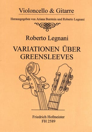 Roberto Legnani - Variations on Greensleeves - Cello and Guitar - Partition - di-arezzo.co.uk