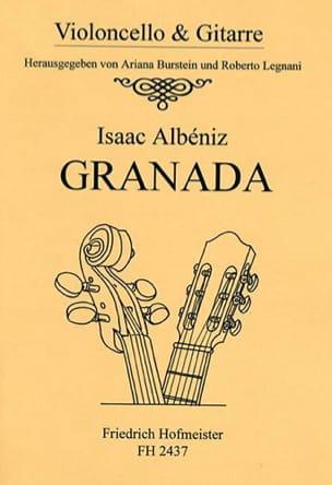 Isaac Albeniz - Granada - violoncelle et guitare - Partition - di-arezzo.fr