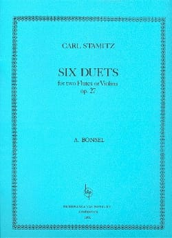 Carl Stamitz - 6 Duets Op. 27 (Bonsel) - Partition - di-arezzo.fr