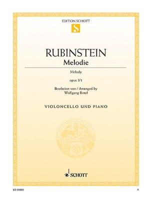 Anton Rubinstein - Melody Op.3 N ° 1 - Sheet Music - di-arezzo.com