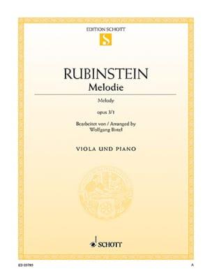 Anton Rubinstein - Mélodie Op.3 N°1 - Partition - di-arezzo.fr