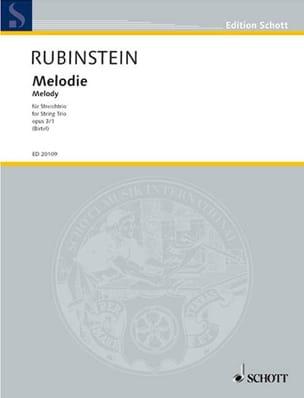 Anton Rubinstein - Melodie op. 3/1 –Streichtrio - Partitur + Stimmen - Partition - di-arezzo.fr