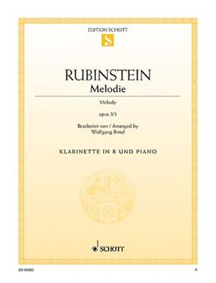 Anton Rubinstein - Mélodie op. 3 n° 1 - Partition - di-arezzo.fr