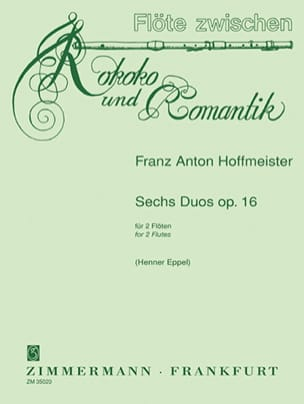 Six Duos Op.16 - HOFFMEISTER - Partition - laflutedepan.com
