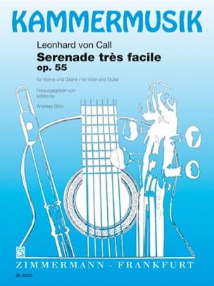 Call Leonhard Von - Sérénade Trés Facile Op.55 - Partition - di-arezzo.fr