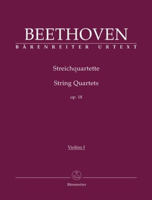 BEETHOVEN - String Quartets Op. 18, 1-6 - instrumental parts - Sheet Music - di-arezzo.co.uk
