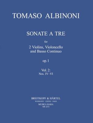 Tomaso Albinoni - 3 Sonatas from op. 1 (n° 4-6) –Parts - Partition - di-arezzo.fr