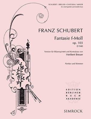 SCHUBERT - Fantasie f-moll op. 103 D. 940 -Bläserquintett Kontrabass - Partitur + Stimmen - Partition - di-arezzo.fr