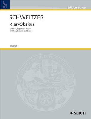 Benjamin Schweitzer - Klar / Obskur - Partition - di-arezzo.fr