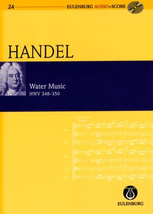 Water Music Hwv 348-350 partition et CD HAENDEL Partition laflutedepan