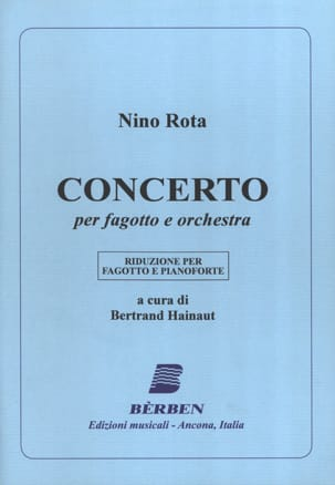 Concerto - Fagotto pianoforte ROTA Partition Basson - laflutedepan