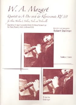 MOZART - Quartett in A-Dur nach Klaviersonate KV 331 - Stimmen - Sheet Music - di-arezzo.co.uk