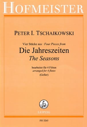 TCHAIKOVSKY - Seasons - 4 Flutes - Sheet Music - di-arezzo.com