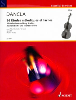 Charles Dancla - 36 Melodic and Easy Studies Op.84 - Viola - Sheet Music - di-arezzo.co.uk