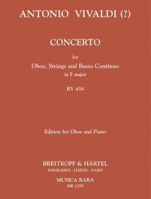 Concerto In F Major Rv 458 VIVALDI Partition Hautbois - laflutedepan