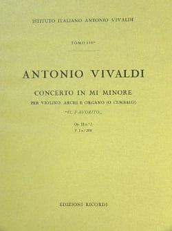 Antonio Vivaldi - Concerto en mi min. - F. 1 N° 208 Il Favorito - Conducteur - Partition - di-arezzo.fr
