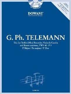 Georg Philipp Telemann - Trio in F maj. TWV 42 : F3 –Treble recorder Viola da gamba Bc - Partition - di-arezzo.fr