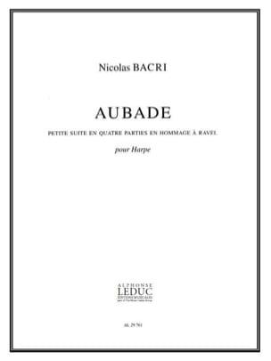 Aubade - Nicolas Bacri - Partition - laflutedepan.com