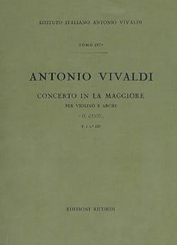 VIVALDI - Concerto en La Maj. - F. 1 n° 223 - Partitura - Partition - di-arezzo.fr