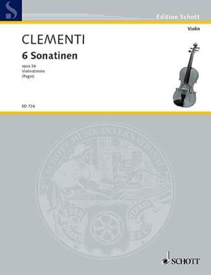 6 Sonatines Op.36 violon seul - Clementi - laflutedepan.com